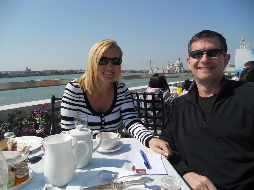 Having Breakfast at Restaurant Terrazza Danieli, Venice