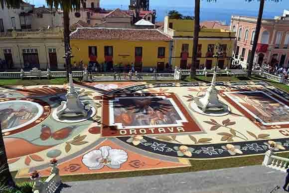 La Oratava Corpus Christi Religious Festival in La Villa de La Orotava.