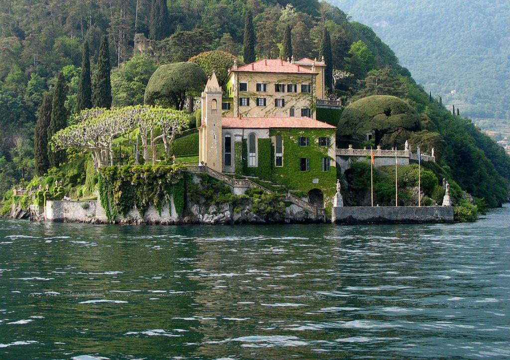 View of Villa del Balbianello from the Water Taxi