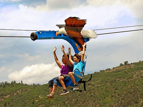 Soaring Eagle Zip Ride (Photo Glenwood Caverns Adventure Park)