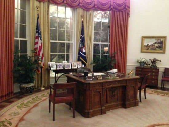 Identical Replica of Reagan's Oral Office, Ronald Reagan Presidential Library