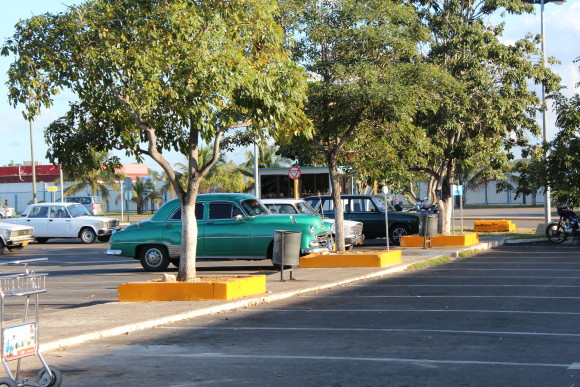 Havana airport parking lot, Cuba