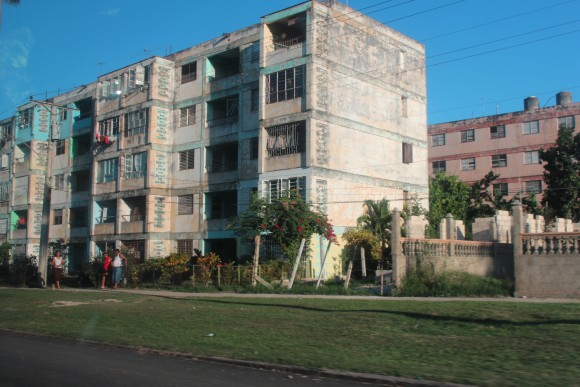 Apartment Buildings in Havana, Cuba