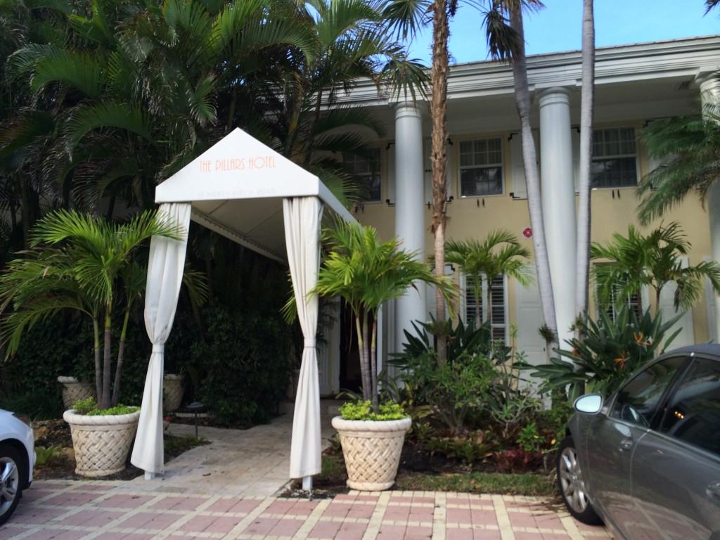 Entrance at The Pillars Hotel