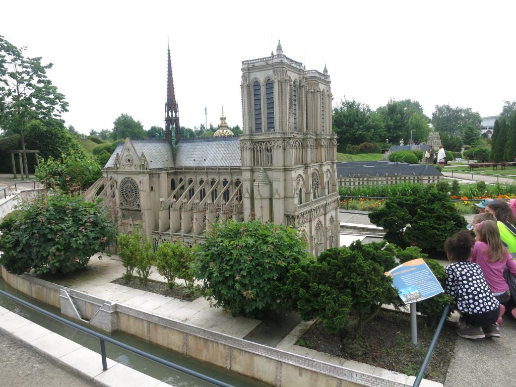 Model of Notre Dame de Paris  in France Miniature Theme Park