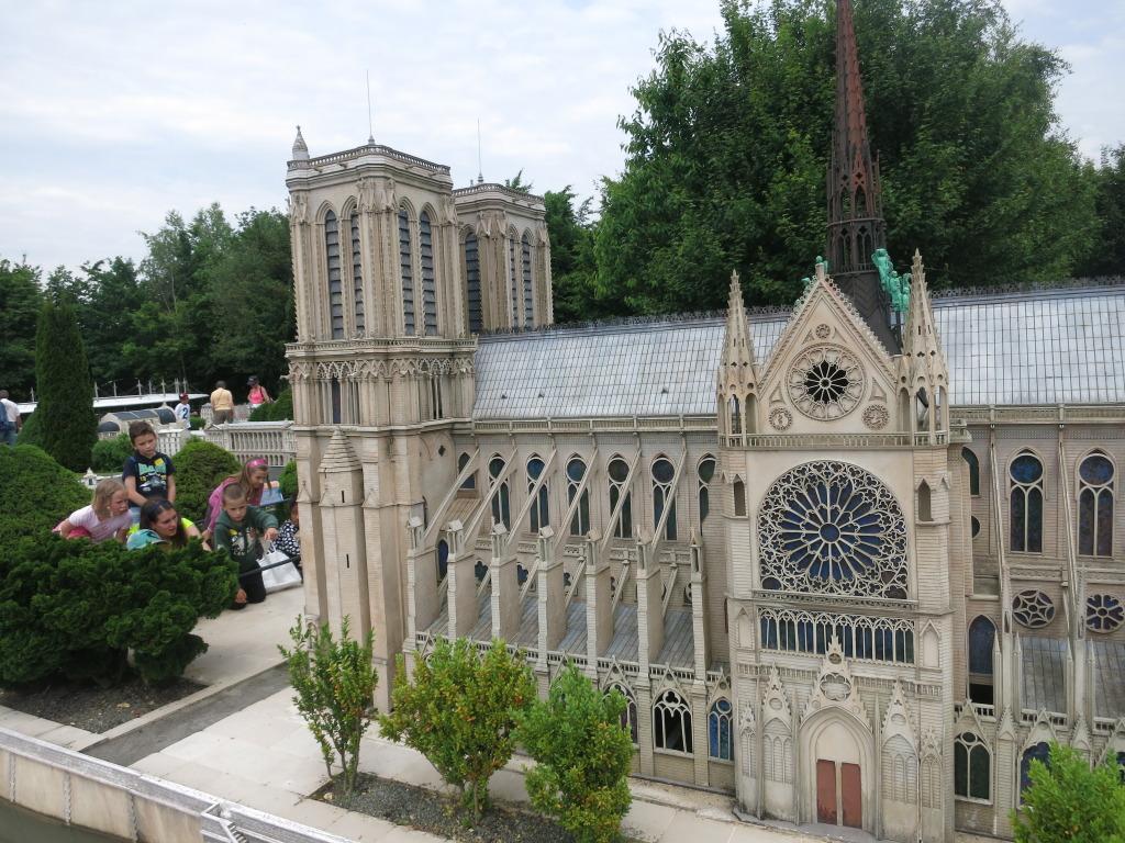 Model of Notre-Dame de Paris, French Miniature Theme Park