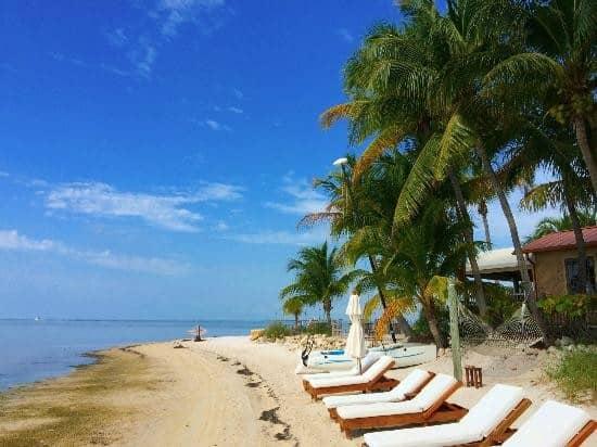 Beach Area at Little Palm Island Resort & Spa, Little Torch Key, Florida