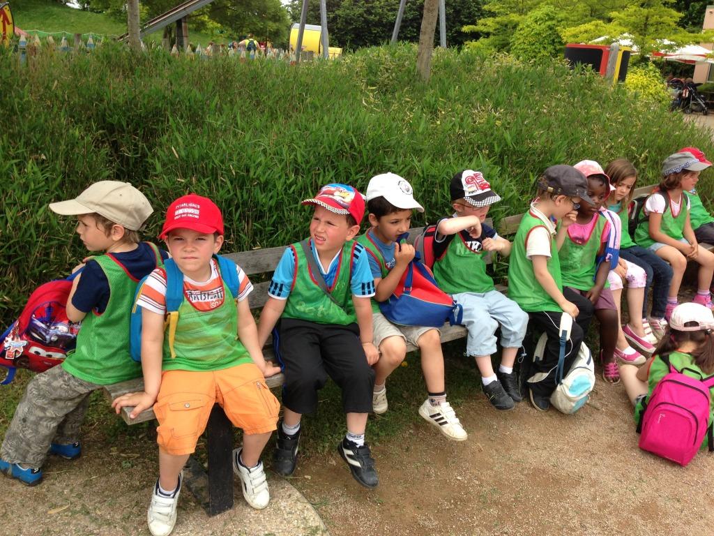 Kids on a field trip in France Miniture Theme Park