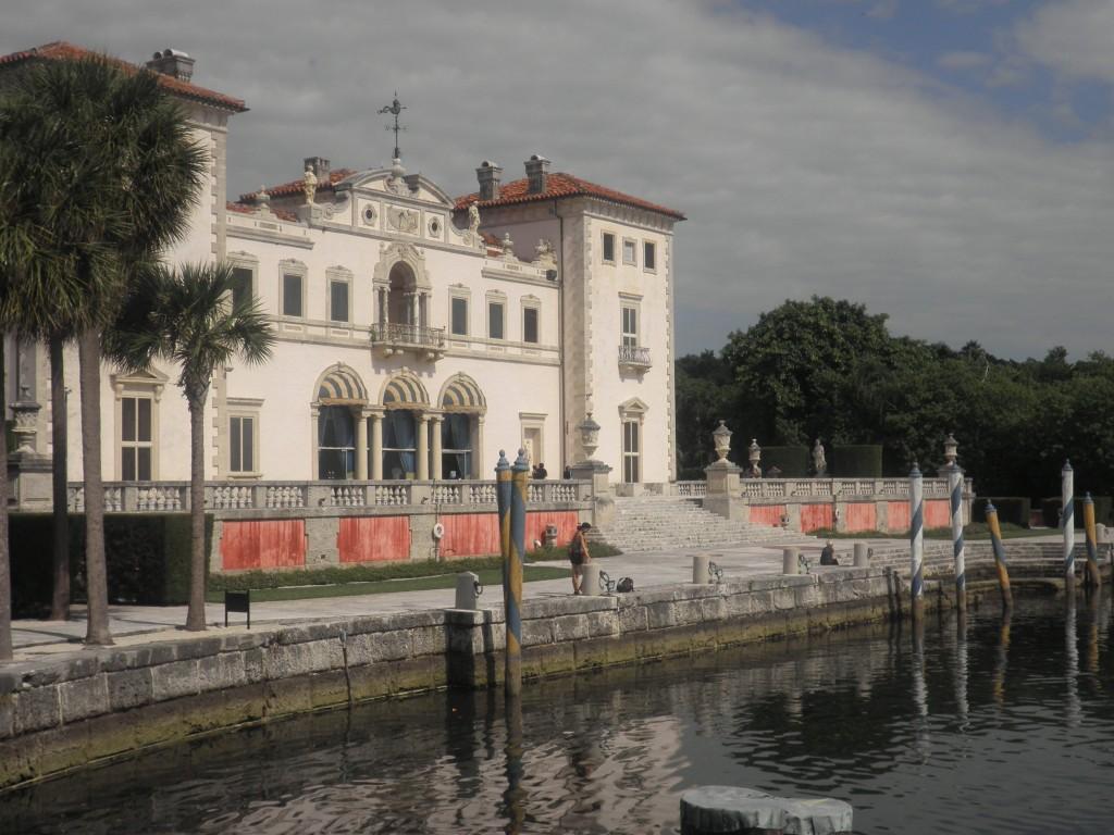 Vizcaya House facing Biscayne Bay, Miami, Florida