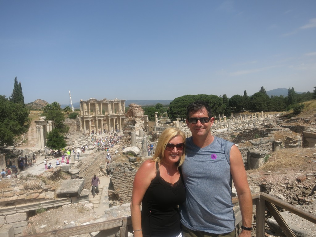 The ruins of Ephesus, with Library of Celsus in the background