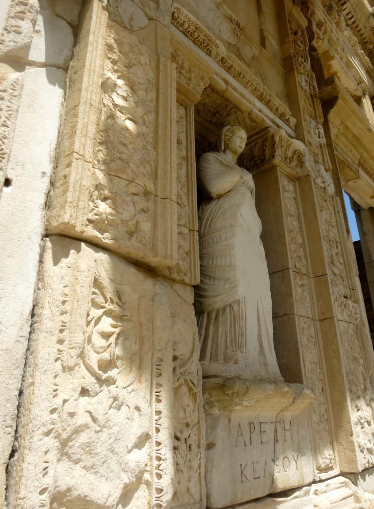 Statue of Arete in the Library of Celsus, Ephesus