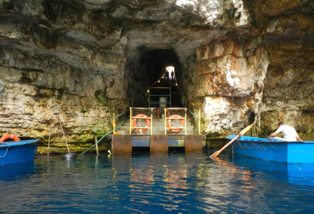 Boat Dock at Melissani Cave, Kefalonia Greece