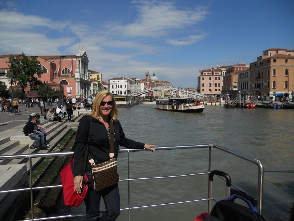 Ponte Degli Scalzi in the background, Venice