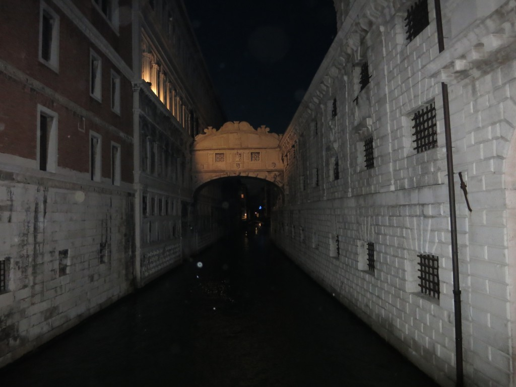 Bridge of Sighs at Night, Venice