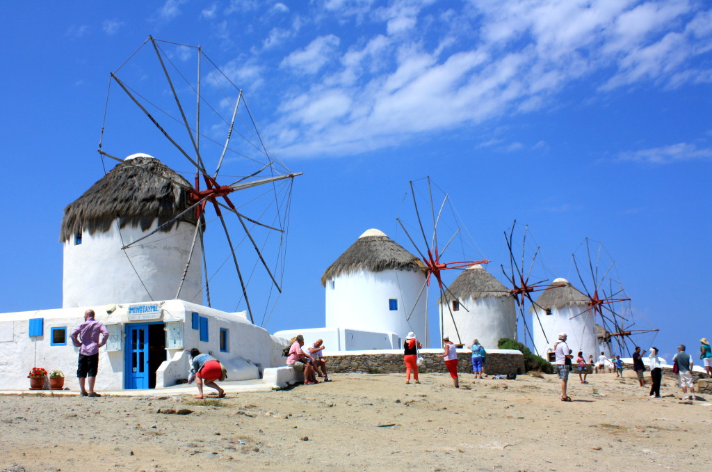 Windmills at Mykonos Greece