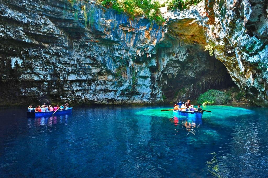 Melissani Lake Photo, kefalonia Greece