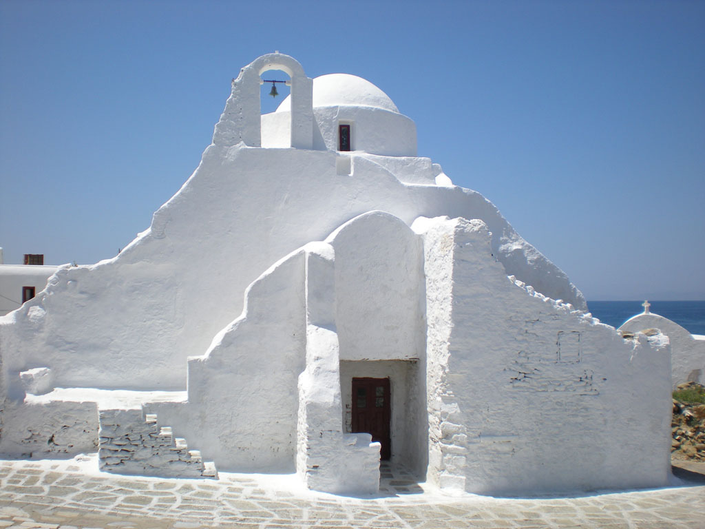 The Paraportiani Church, Mykonos Greece