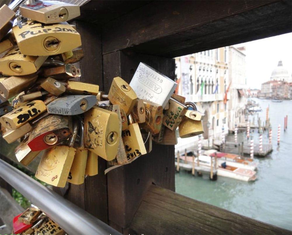 Ponte dell'Accademia Bridge Locks, Venice