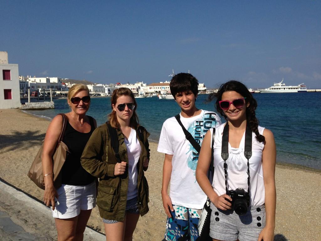 Family Picture, Mykonos Greece