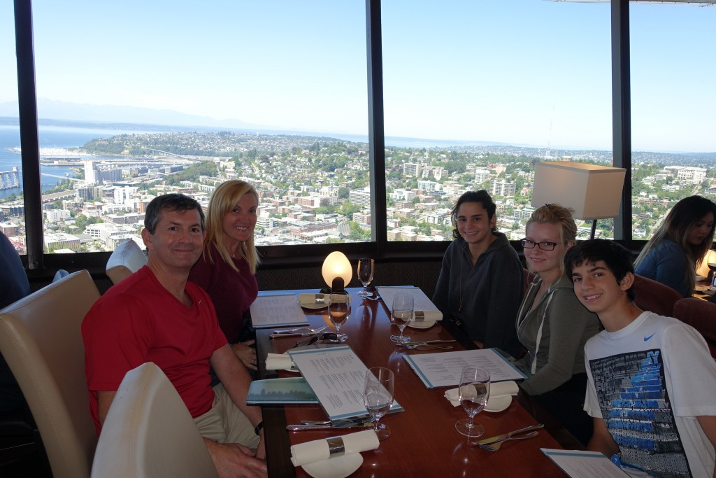 DSC00428 Family Picture at the SkyCity Restaurant  Space Needle  SeattleSpace Needle  Seattle. Dinner Seattle Space Needle. Home Design Ideas