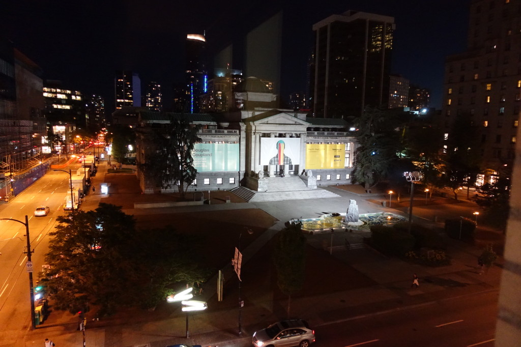 View from our window - Vancouver Art Gallery