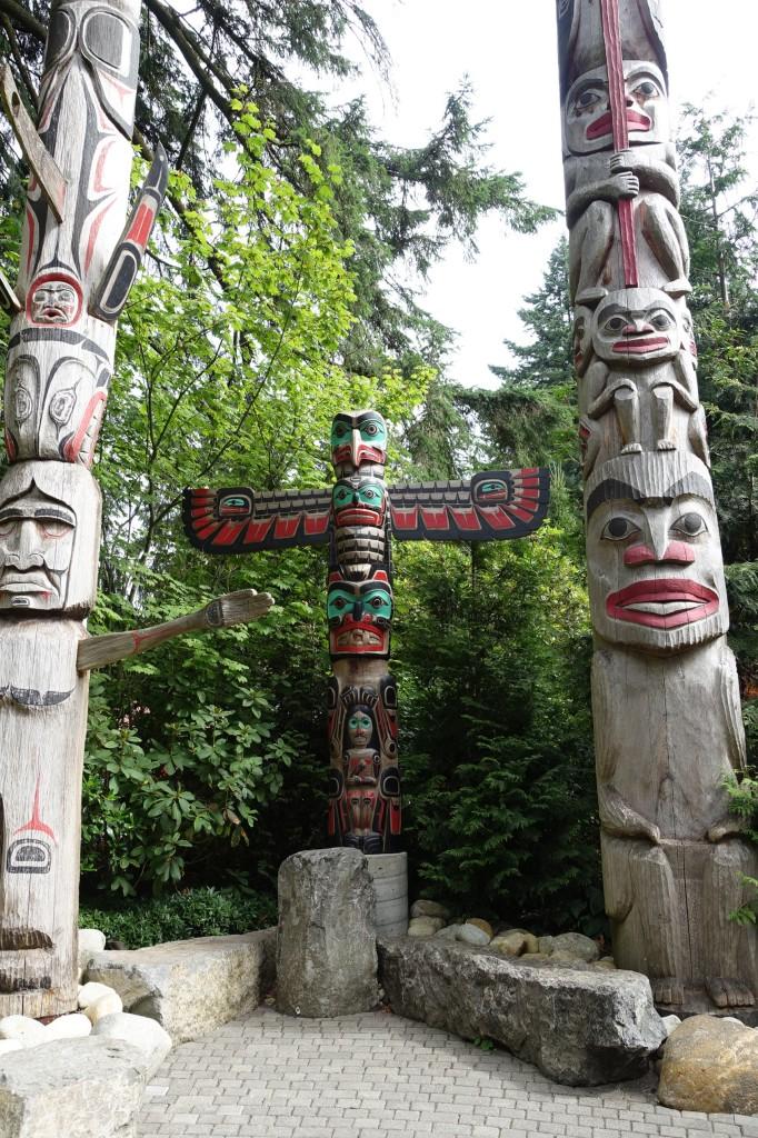 Capilano Suspension Park Totem Poles