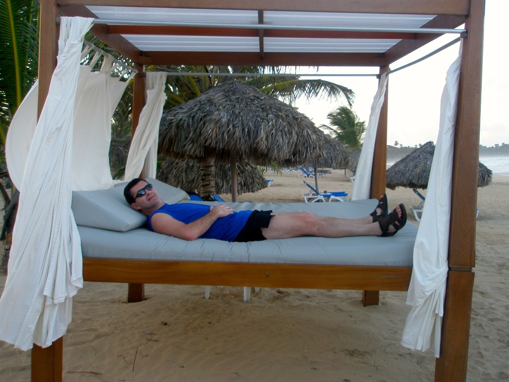Relaxing in the Beach Bed at Excellence Punta Cana