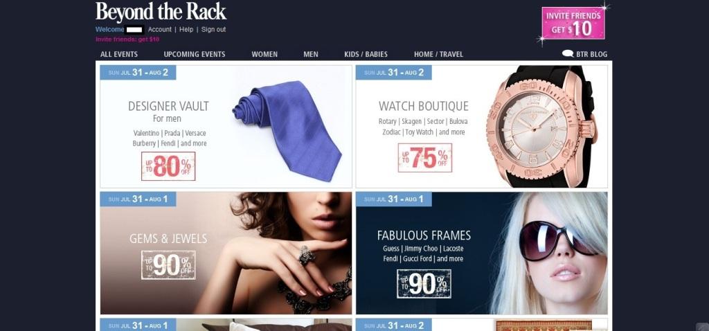 Designer Brands for less - beyond the rack