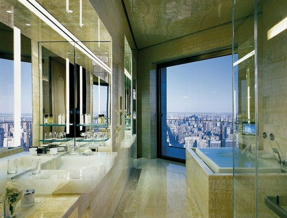 Ty Warner Penthouse bathroom at the Four Seasons Hotel