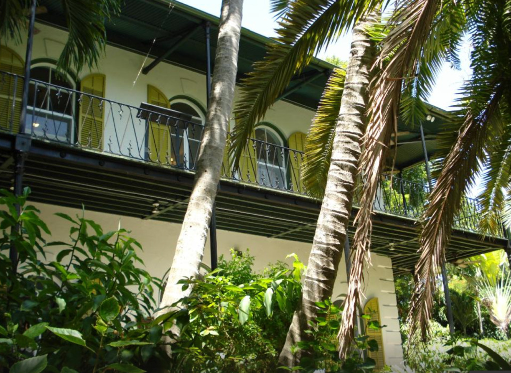 Veranda Upstairs on Ernest Hemingway's House, Key West