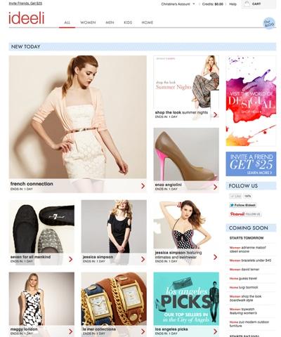 Designer Brands for less - ideeli