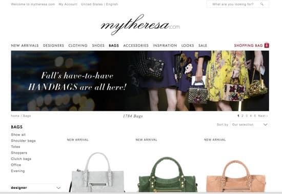 Designer Brands for less - Mythersa