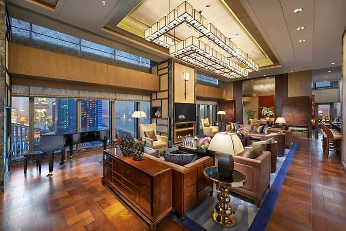 Presidential Suite Living Room at Mandarin Oriental, Shanghai