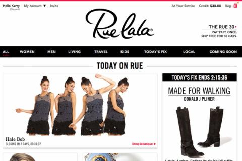 Designer Brands for less - ruelala
