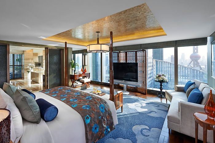 Presidential Suite Bedroom at Mandarin Oriental, Shanghai