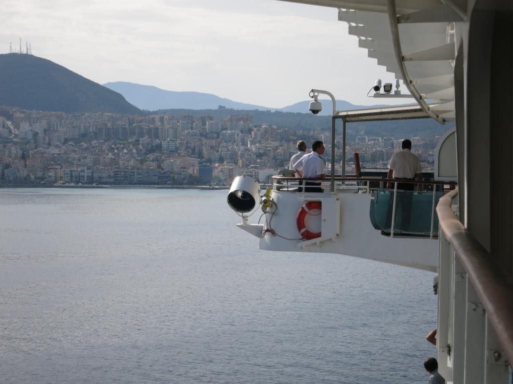 Splendour of the Seas docking in Kusadasi