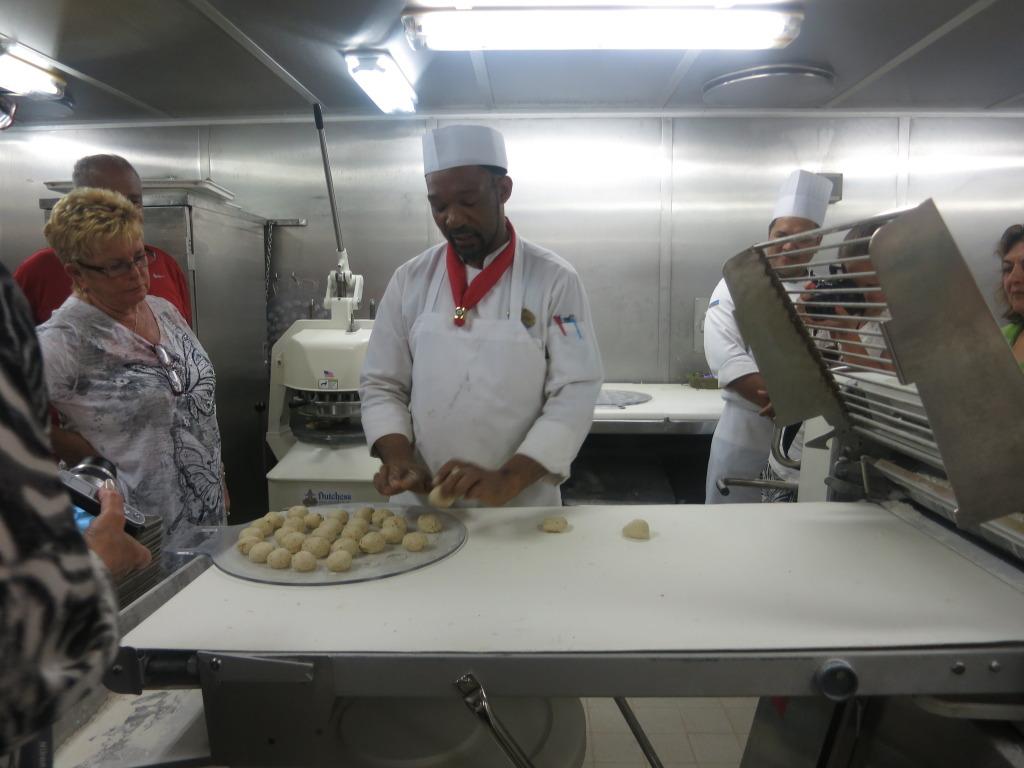 Fresh Bread Rolls in the Galley of Splendour of the Seas