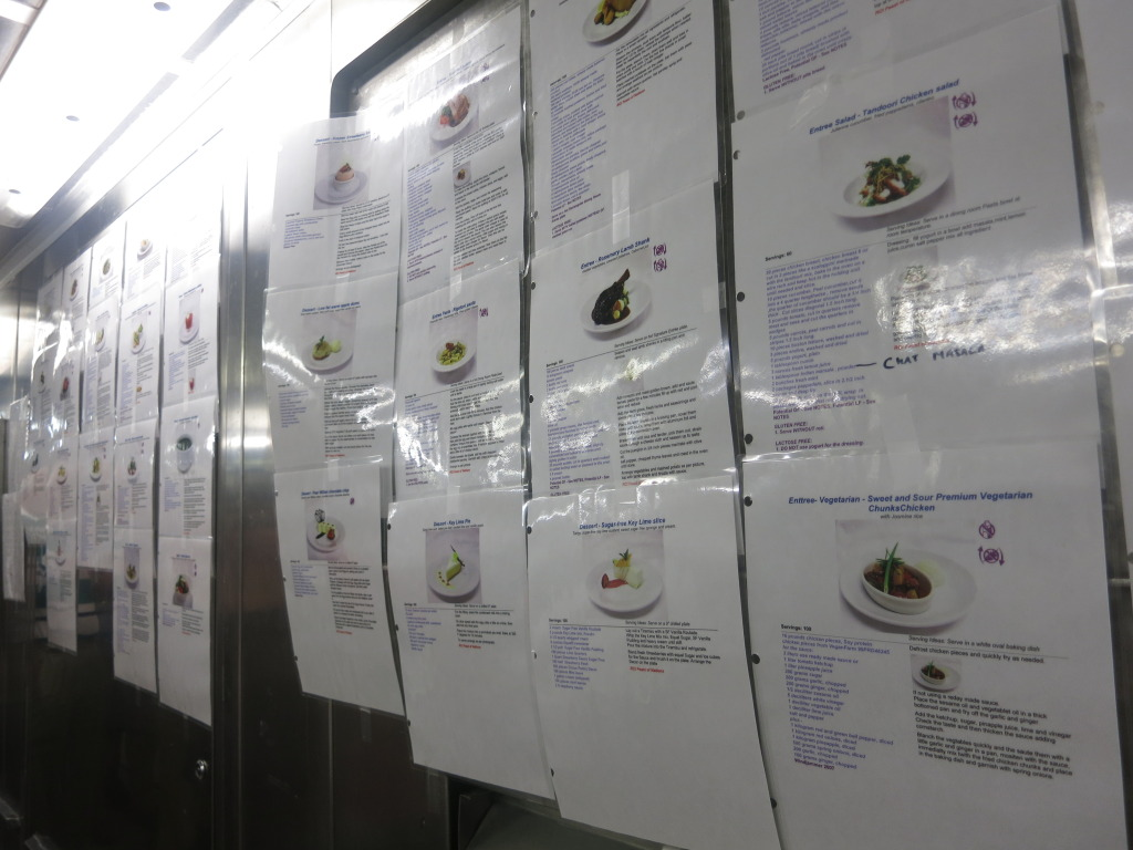Meal Recipes in the Galley of Splendour of the Seas