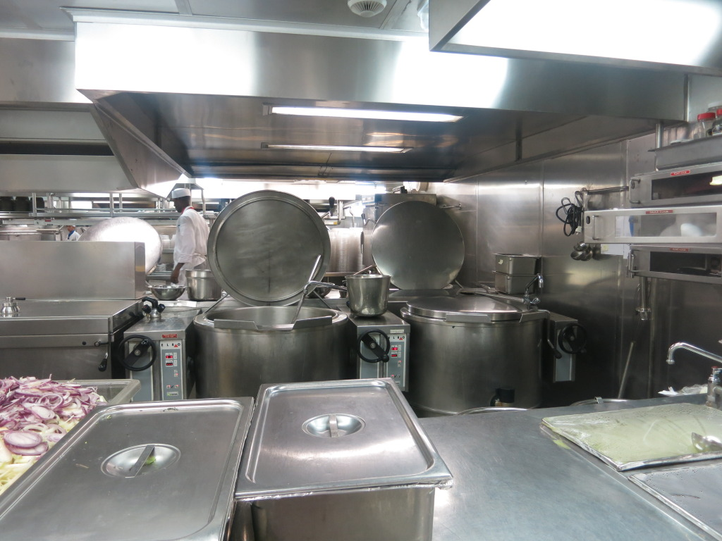 Soup Pots in the Galley of Splendour of the Seas