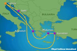 RCI -Splendour of the Seas Itinerary