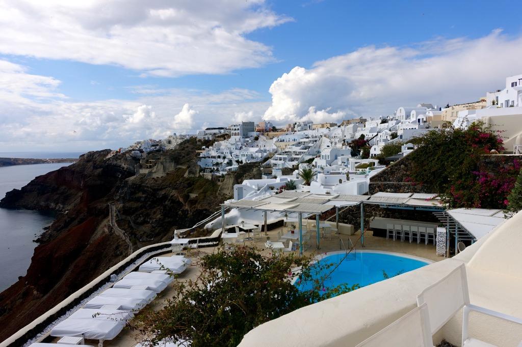 Canaves Oia Hotel Pool Area, Santorini, Greece