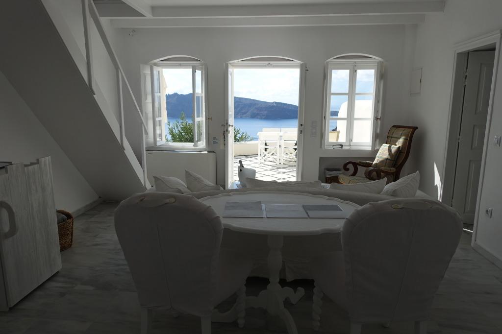 Canaves Oia Suites Living Room Area, Santorini Greece