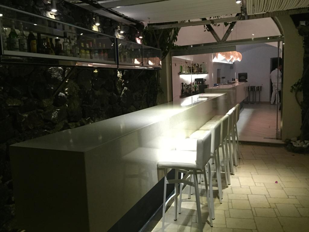 Canaves Oia Outdoor Bar Area Area, Santorini Greece