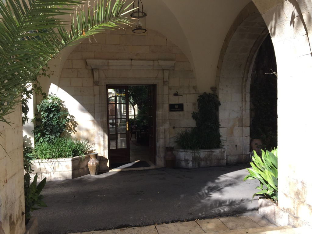The American Colony Hotel Entrance
