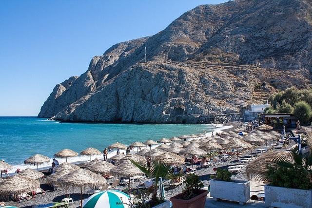 Santorini beach retro pics 4