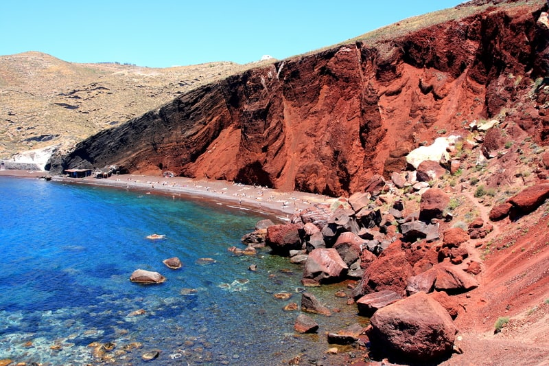 Santorini Beaches - Red Beach