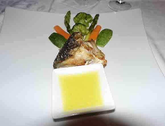 Canaves Oia Restaurant Dinner Dish, Santorini Greece