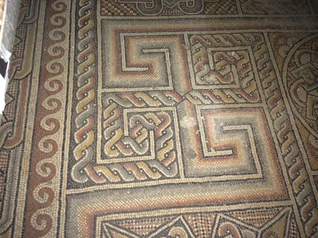 Floor Mosaics behind trap doors in the Church of Nativity