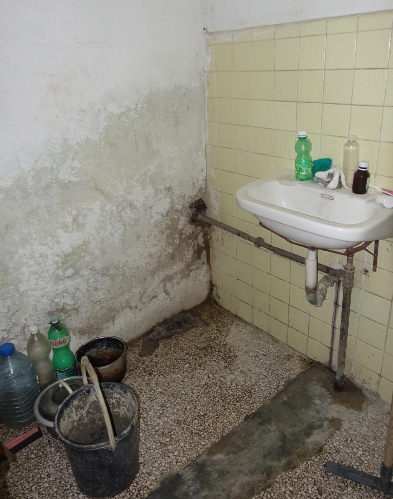 "Dorm Room Bathroom at La Universidad Central ""Marta Abreu"" De Las Villas, Santa Clara, Cuba"