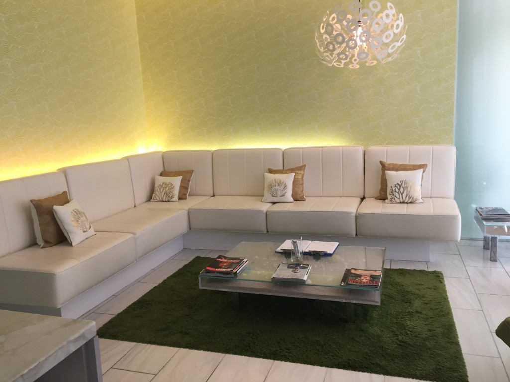 The Bliss Spa Waiting Area - W Hotel South Beach